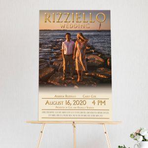 Rizziello Wedding Foamcore Poster Sample