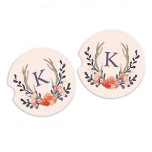 car-coaster-personalized-sandstone-cup-holder-accessory-floral-wreath-antlers-joyful-moose-free-shipping_569_1024x1024